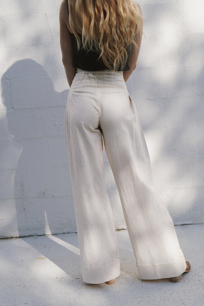 Lise Trousers - Vintage White