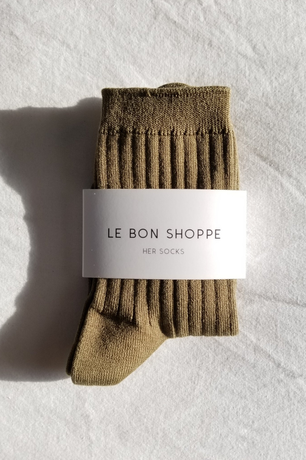 Her Socks - Pesto - By Le Bon