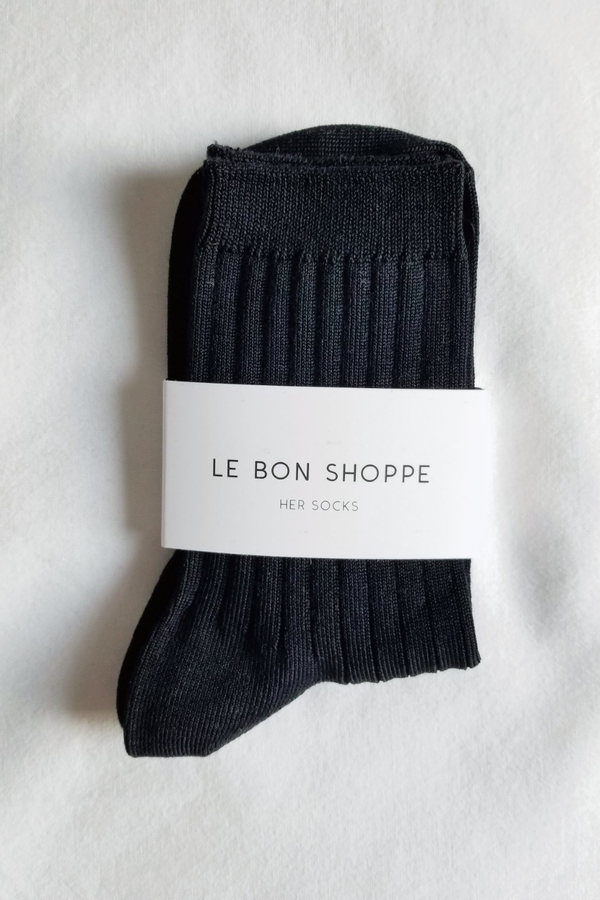 Her Socks - Black - By Le Bon