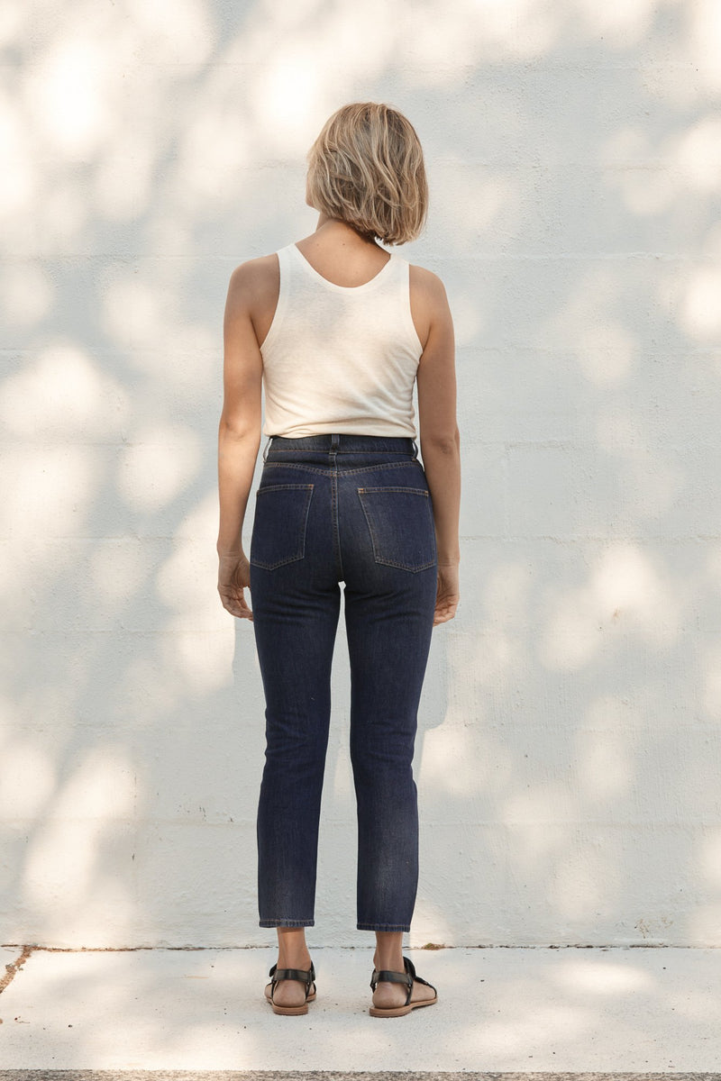 Classic Slim Crop Denim - 90's Blue