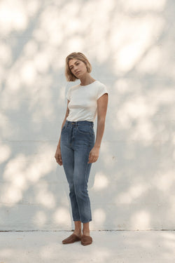 Classic Slim Crop Denim - 80's Blue