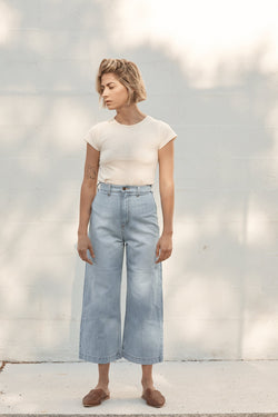 Jacques Wide Crop Denim - 70's Blue