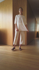 Knit Lounge Pant - Off White