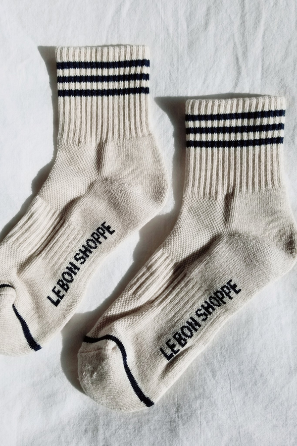 Girlfriend Socks - Oatmeal - By Le Bon
