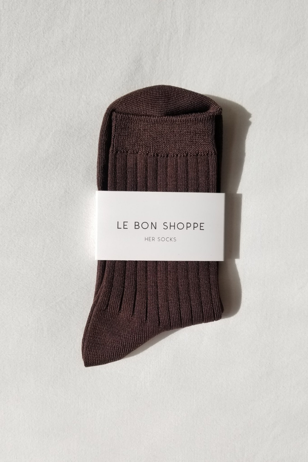 Her Socks - Coffee - By Le Bon