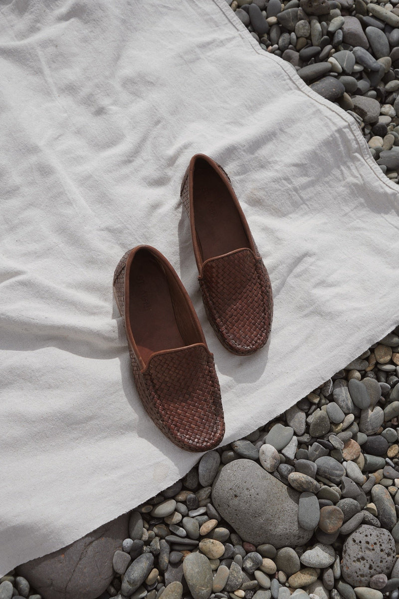 Lordes Woven Mocassin - Antique Tan