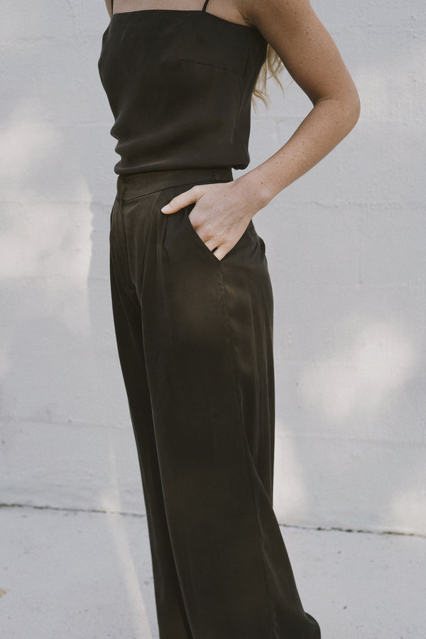 Patti Silk Pants - Black
