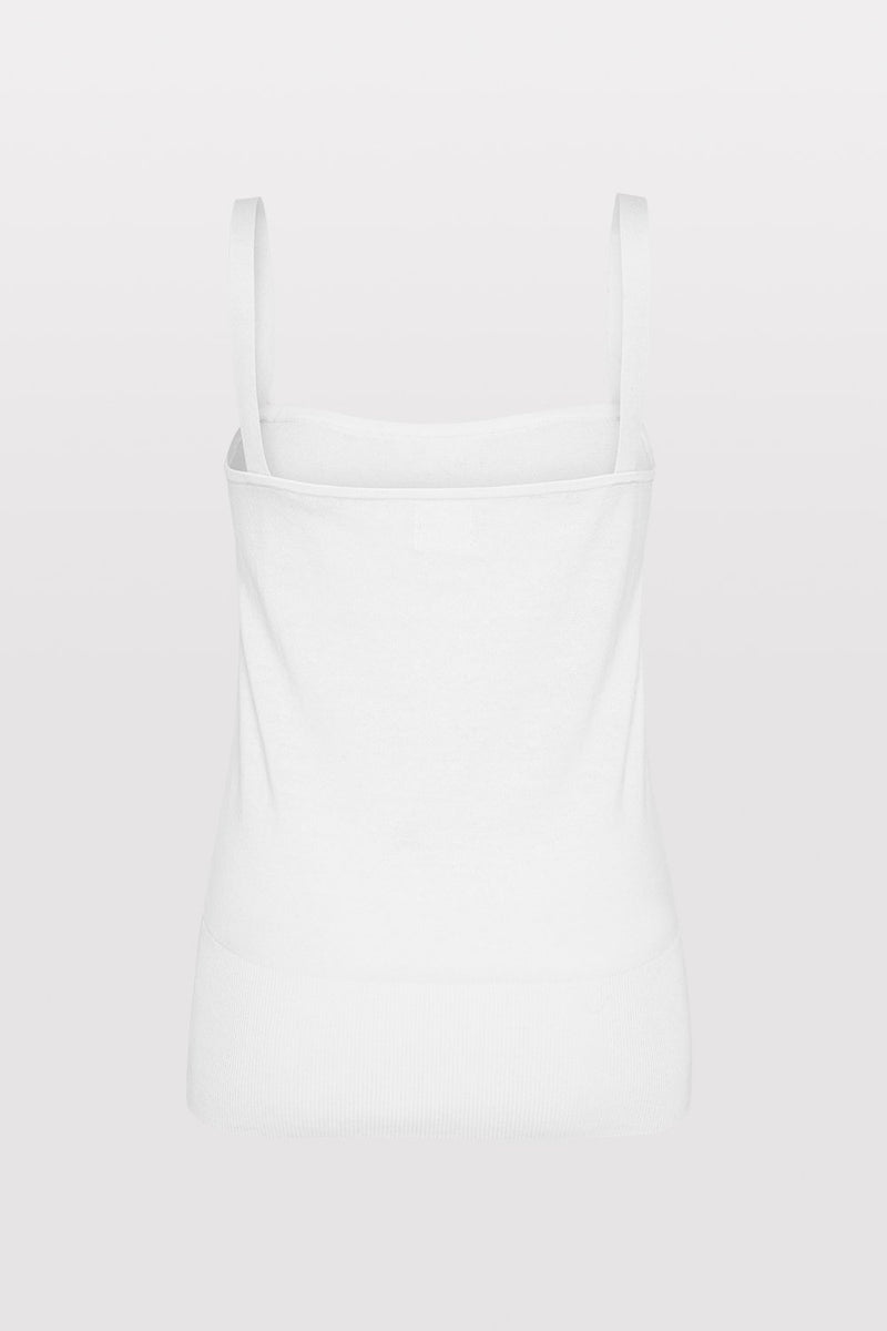 Akio Knit Singlet - Off White