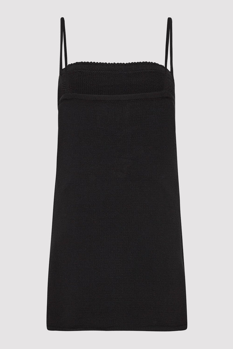 Amelia Knit Tunic - Black
