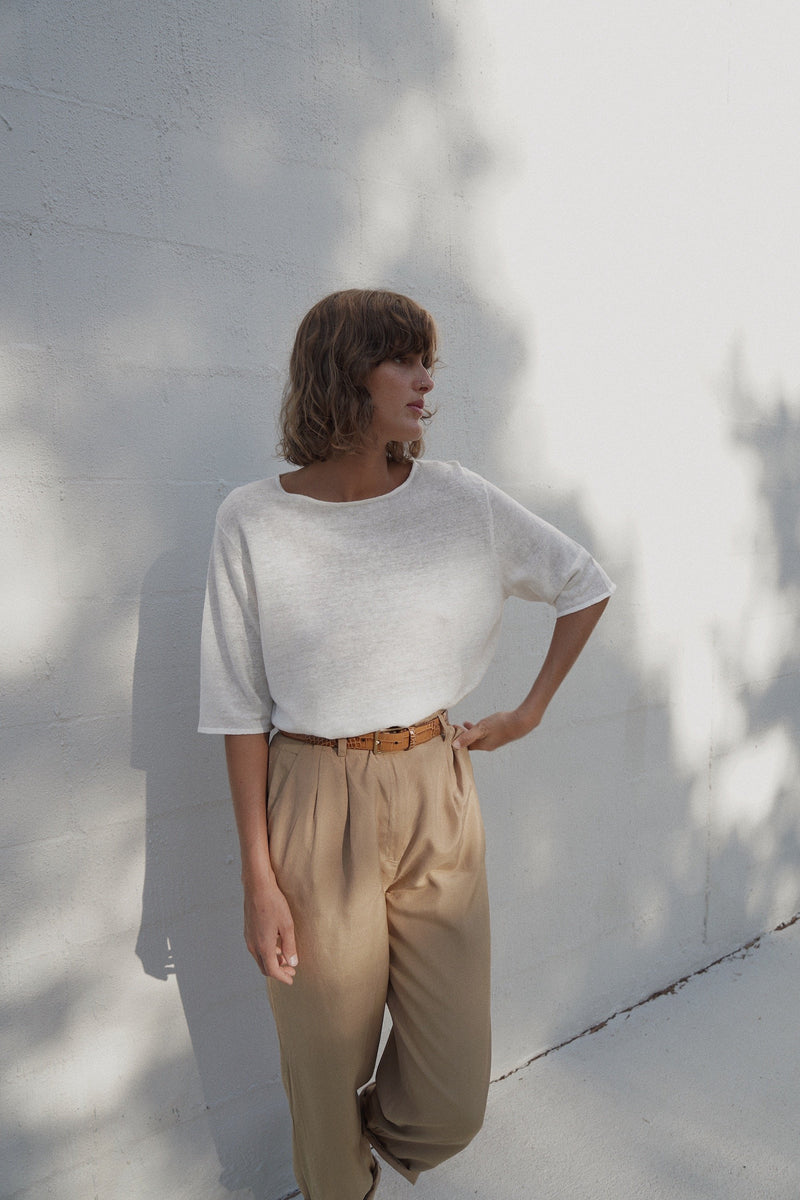 Willow Linen Tee - Off White