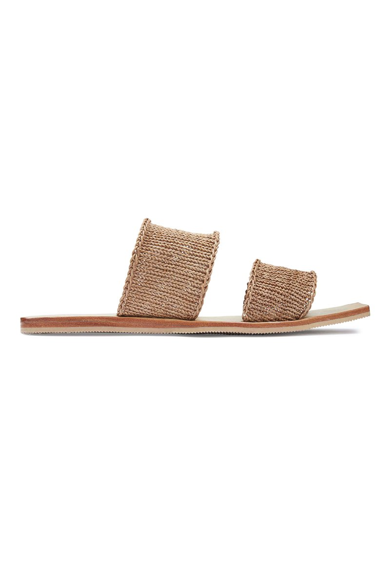 Pilar Knitted Slide - Tan