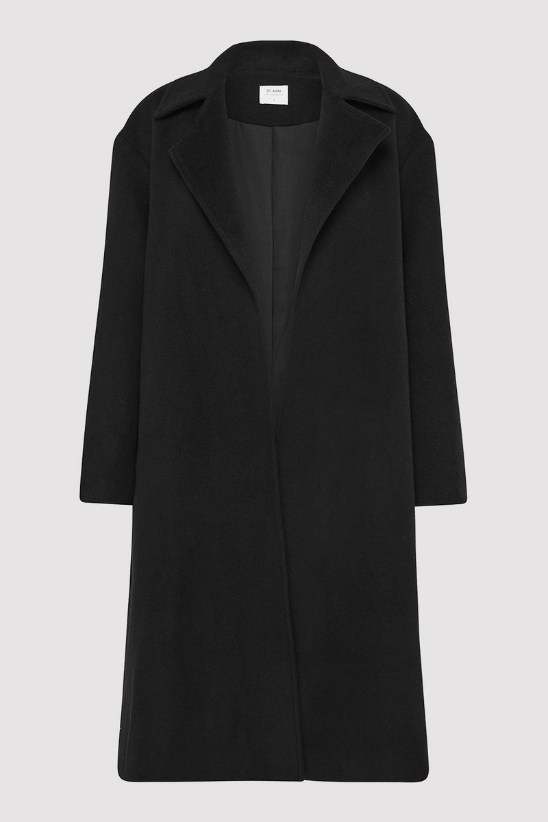 Claud Wool Coat - Black