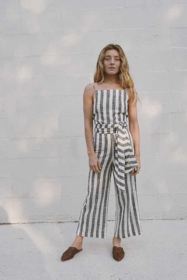 Franco Pants - Black & White Stripe