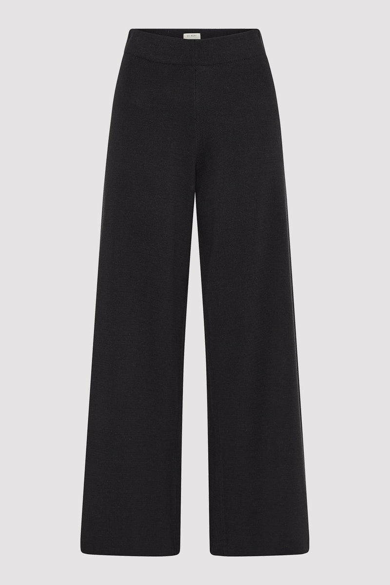 Hemp Knit Lounge Pant - Black