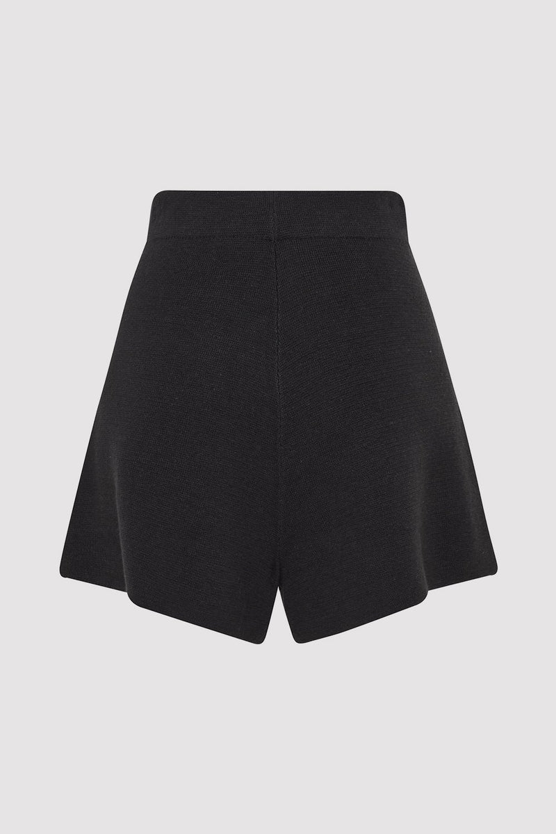 Hemp Knit Spencer Shorts - Black