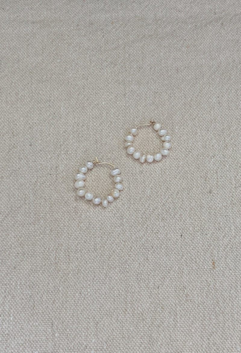 Keshi Pearl Hoops - By Holly Ryan
