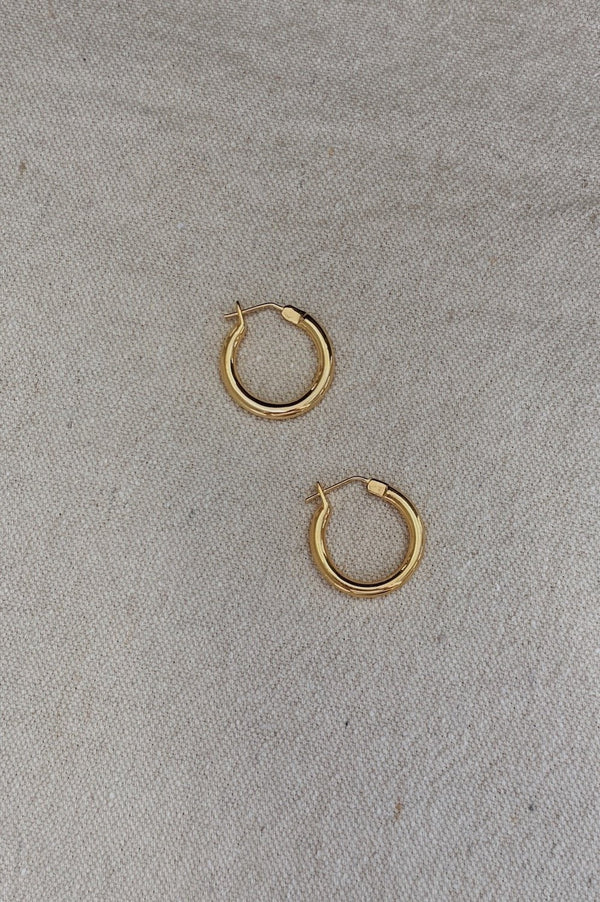 Mini Doozies Hoops - Gold - By Flash Jewellery