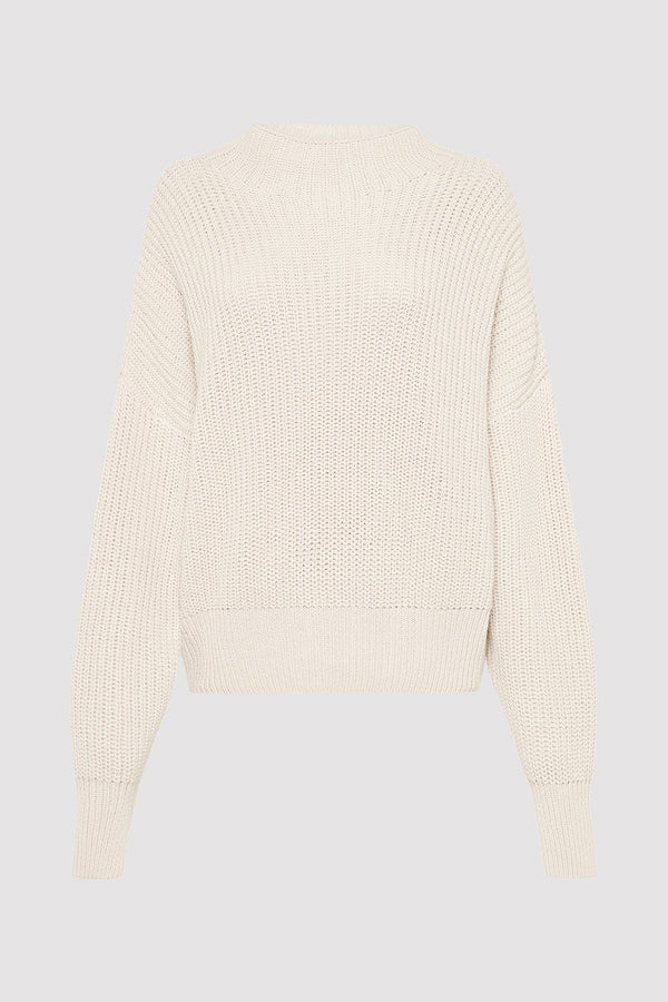 Jorn Fisherman Knit Jumper - Ecru