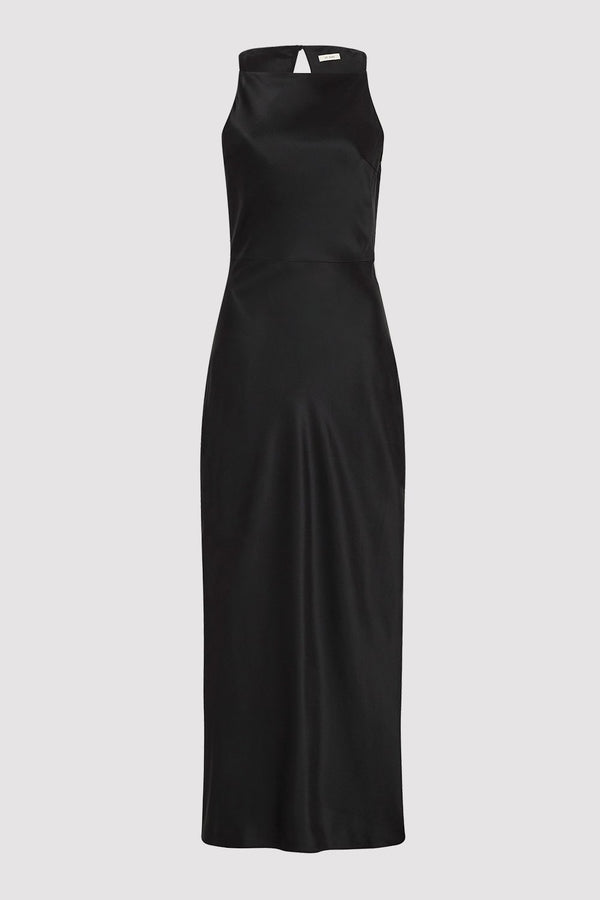 Jules Silk Slip Dress - Black
