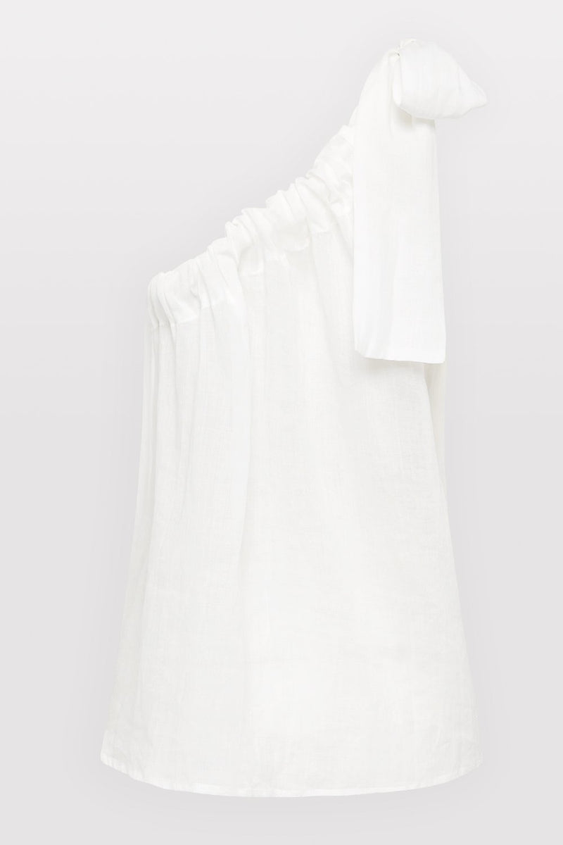 Lulu One Shoulder Top - White