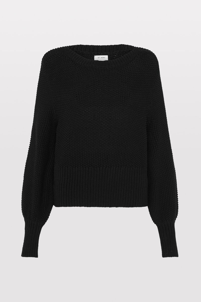Maiko Knit Jumper - Black