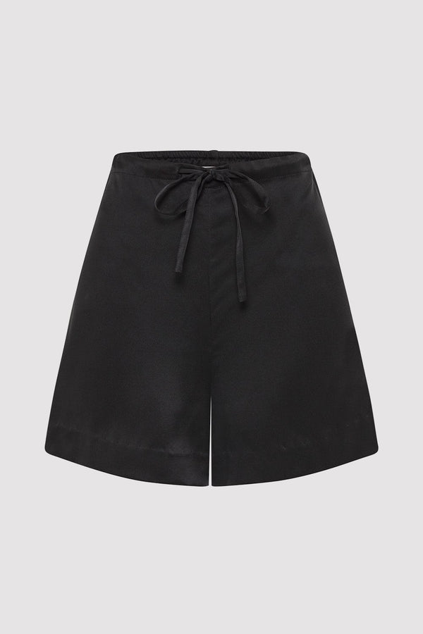 Norma Silk Shorts - Black