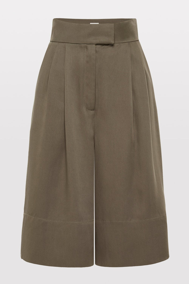 Ode Tencel Shorts - Olive