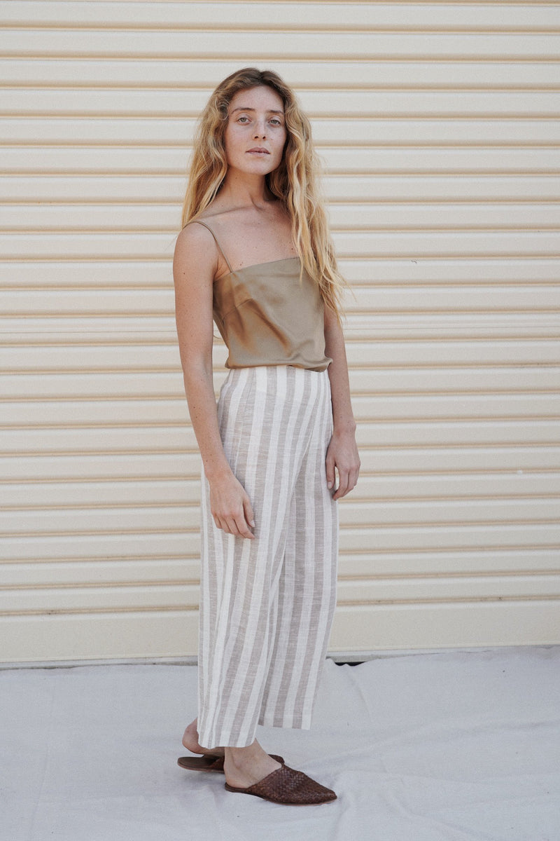 Franco Pants - Taupe Stripe