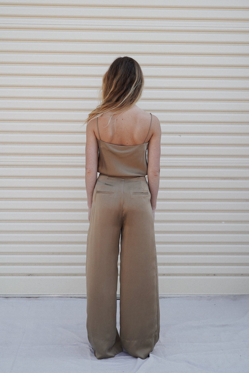 Patti Silk Pants - Honey