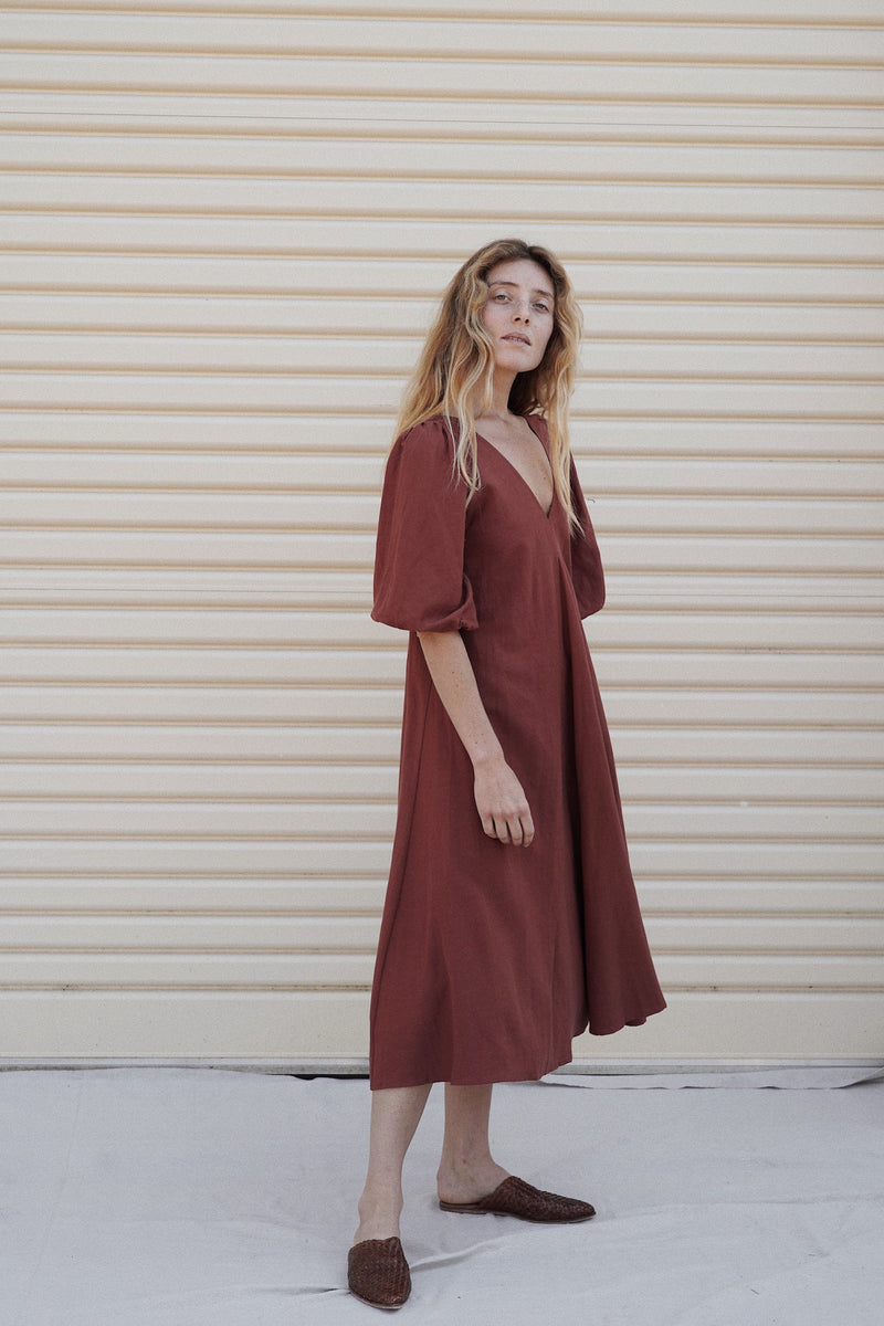 Sunday Dress - Red Earth