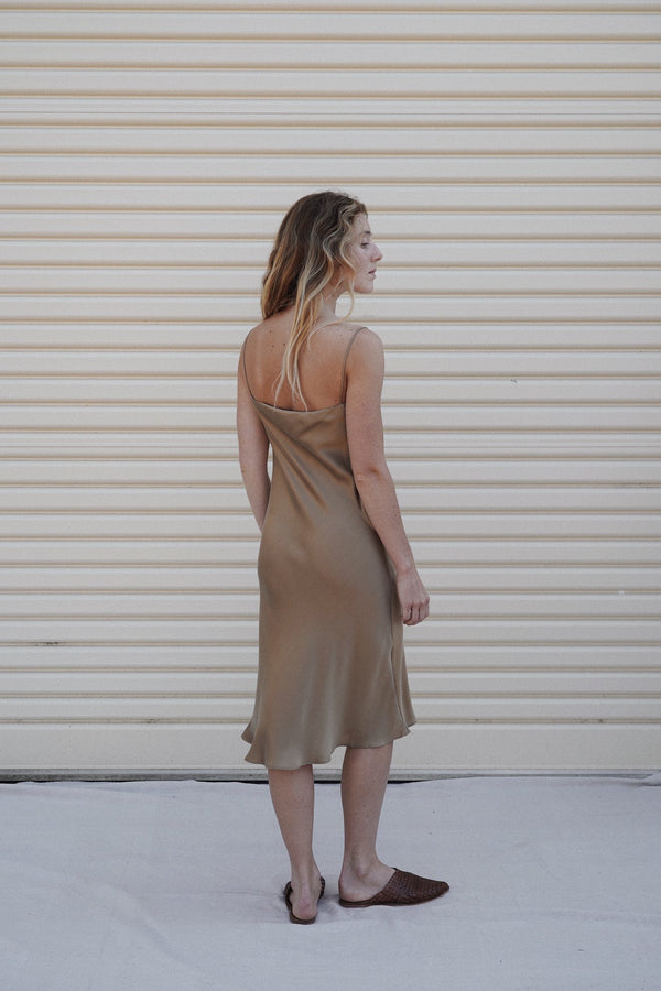 Belle Silk Dress - Honey