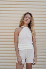 Vail Halter Top - Off White