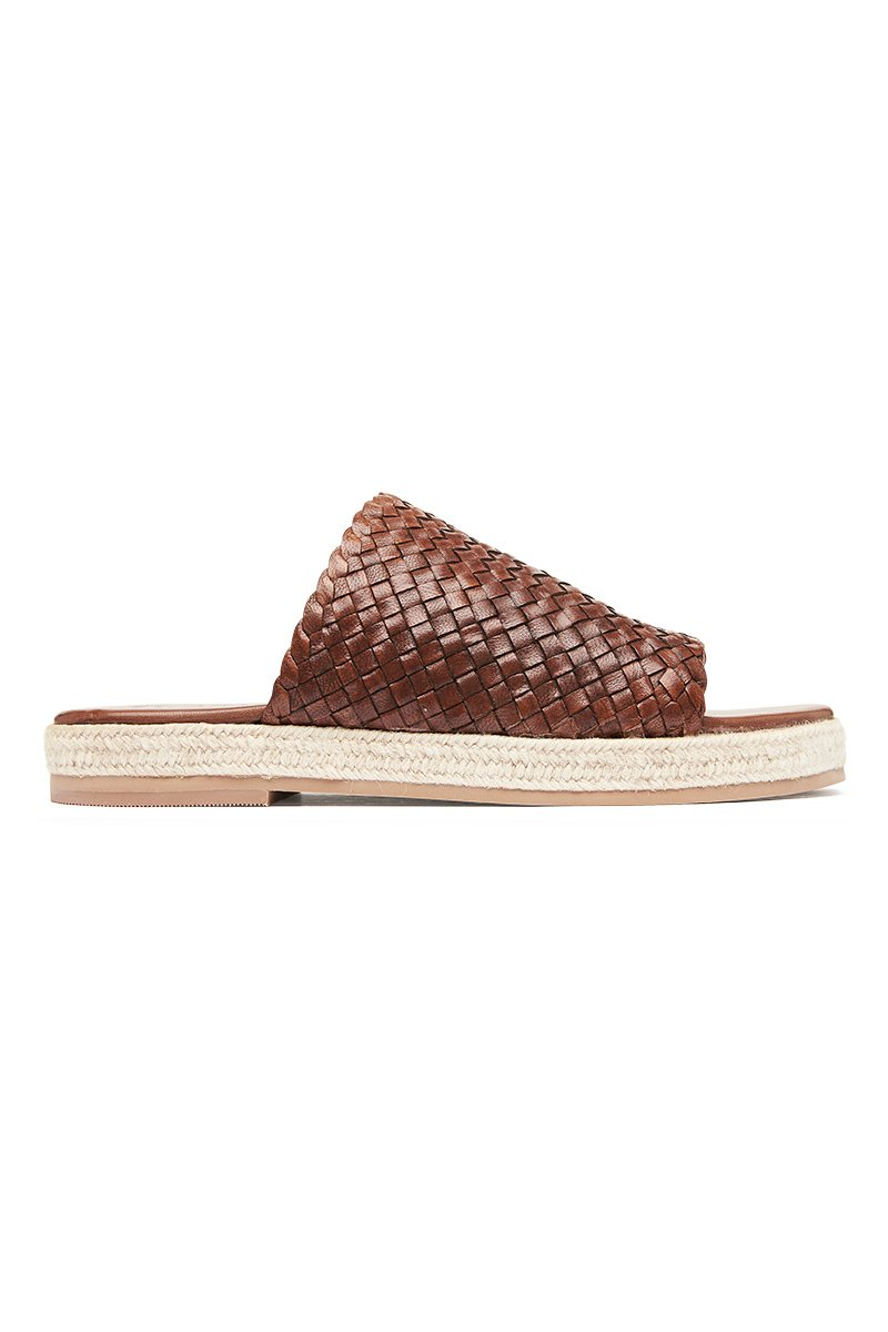 Tuscan Woven Espadrille - Antique Tan
