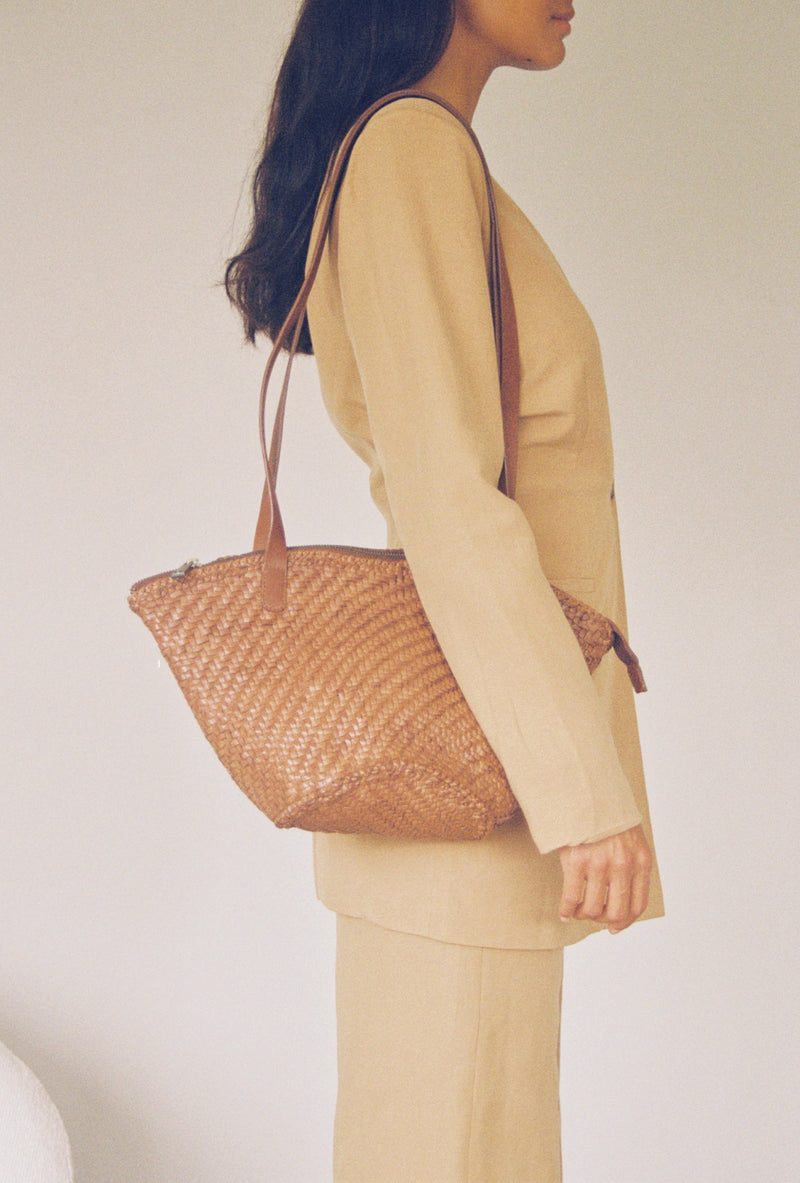 Otton Woven Bag - Antique Tan