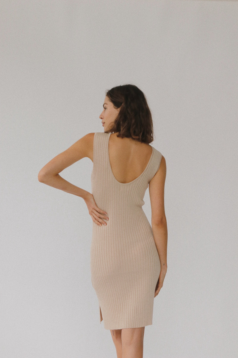 Gia Knit Dress - Sand