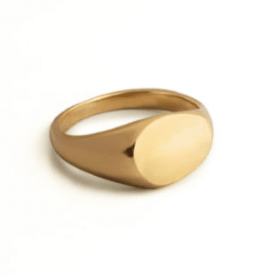 Droplet Signet Ring - By The Line of Sun