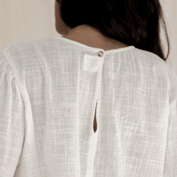 Orla Balloon Sleeve Shirt - Natural