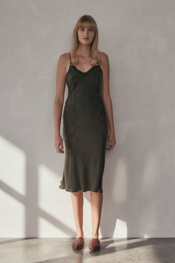 Anouk Dress - Moss
