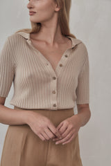 Arlo Knit Shirt - Sand