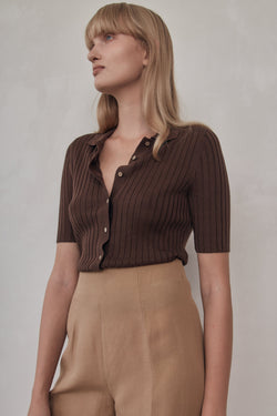 Arlo Knit Shirt - Cocoa