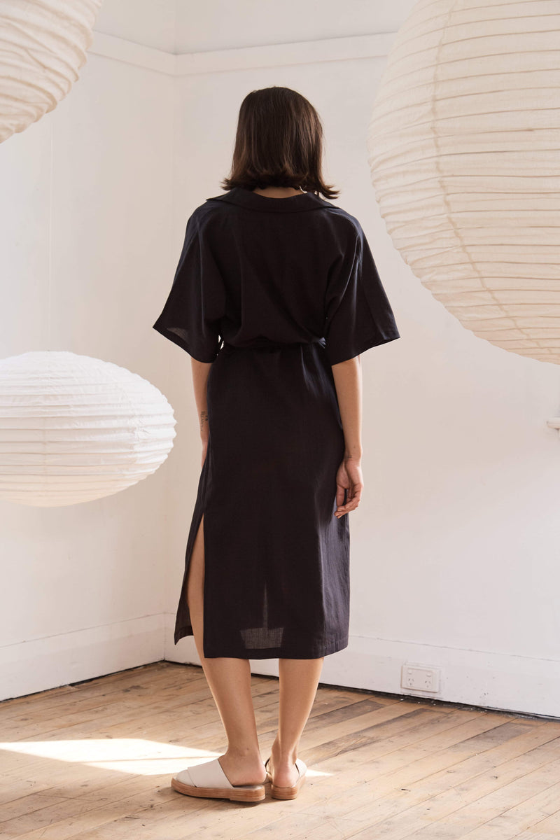 Ceci Shirt Dress - Black
