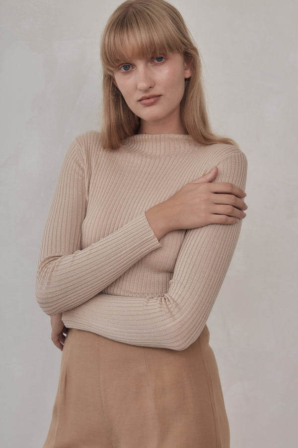 Donna Knit Top - Sand