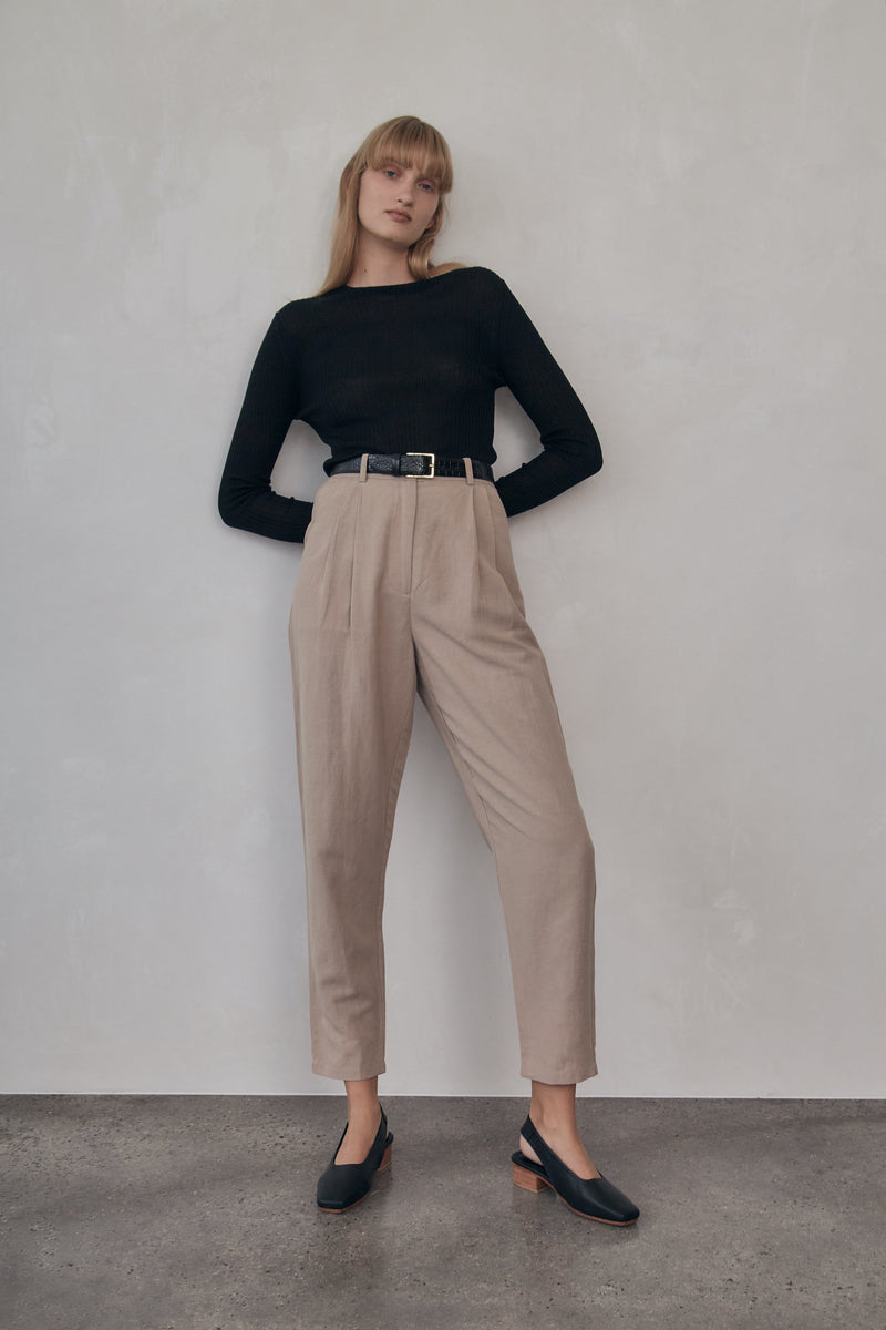 Evon Trousers - Taupe