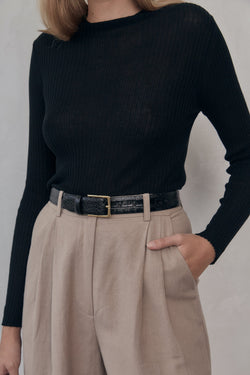 Donna Knit Top - Black