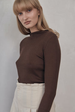 Donna Knit Top - Cocoa