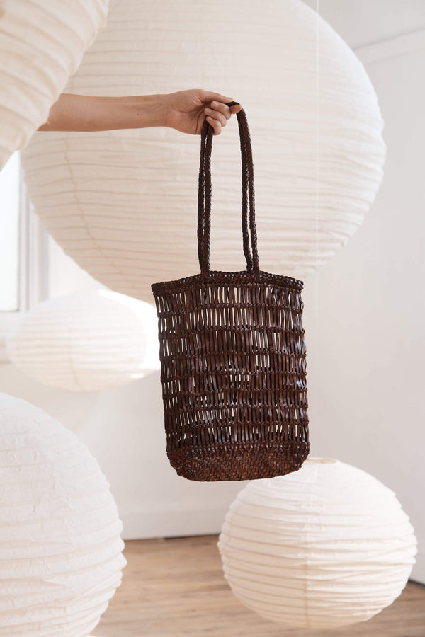 Rada Woven Tote - Antique Tan