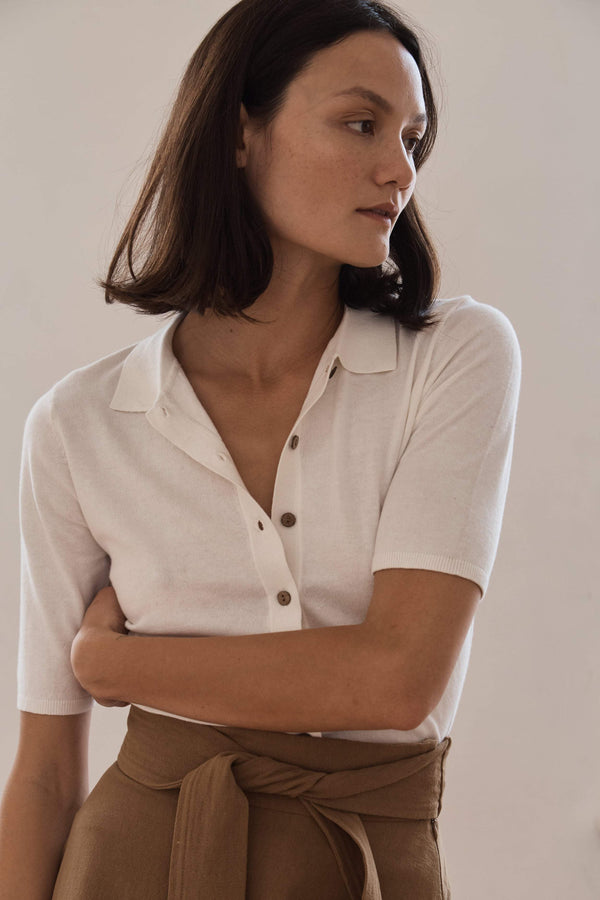 Chieko Knit Shirt - Off White