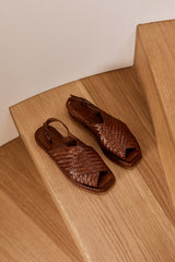 Yona Woven Sandal - Antique Tan