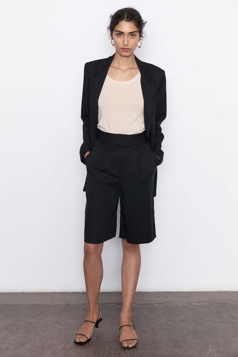 Ode Tencel Shorts - Black