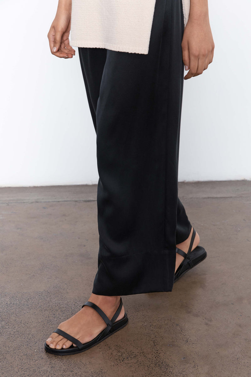 Norma Silk Pants - Black